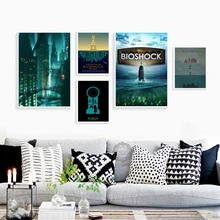 Hot Video Game Rapture Tourism Infinite Custom Picture A4 A3 A2 Poster Art Canvas Home Room Wall Print Decor