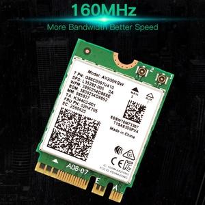 Image 5 - ثنائي النطاق 2.4Gbps واي فاي 6 AX200NGW 802.11ax/التيار المتناوب MU MIMO 2x2 واي فاي ل AX200 NGFF M.2 بلوتوث 5.0 شبكة Wlan بطاقة + هوائي