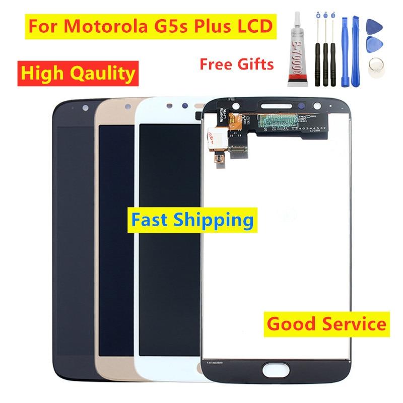 Tested For Moto G5s plus XT1802 XT1803 XT1804 XT1805 XT1806 LCD Display touch Screen Digitizer For Motorola Moto G5s Plus LCD on