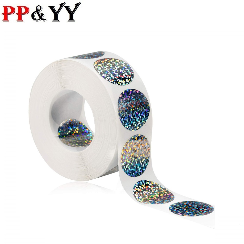 1inch Coloful Stickers Scrapbooking For Seal Adhesive Label Roll Cute Sticker For Package Stationery Sticker