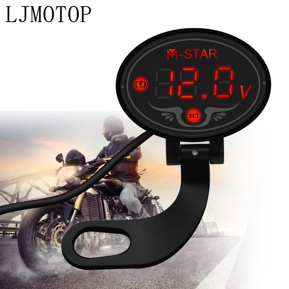 Motorcycle Voltmeter Tester Led Display Voltage Meter For BMW R1200S R1200ST <font><b>R1150RT</b></font> F650CS R1100S R1150R S1000RR Accessories image