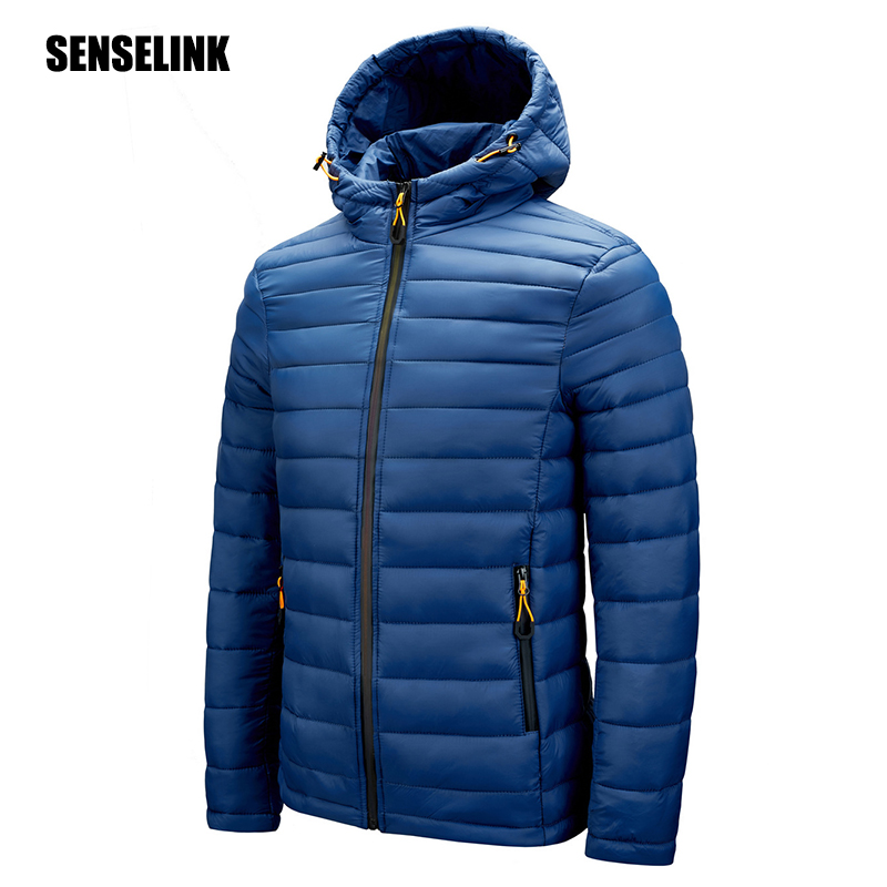 Men 2021 Winter Warm Brand Waterproof Jacket Men Autumn Outwear Thick Hooded Parkas Coat Casual Fashion Slim Parkas Jacket Men