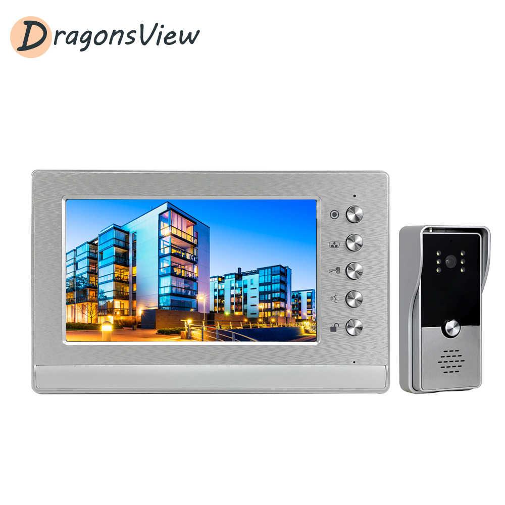 Dragonsview فيديو إنترفون 7 ''مراقبة داخلية السلكية 1000 TVL البصرية باب الهاتف الجرس عدة للمنازل يوم عمل للرؤية الليلية