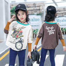 2019 Spring Autumn Girls T Shirt Cotton O-neck Tops for Kids Cartoon Children Shirts Long Sleeve Baby Blouse Toddler Clothing spring fall teenager baby school girls white blouse lace bow girls tops kids plaid shirt long sleeve shirts children s clothing