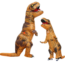 Mascot Dinosaur Costumes Kids Adult Dino T Rex Inflatable Costume Purim Halloween Costume for Man Woman Carnival Cosplay Dress
