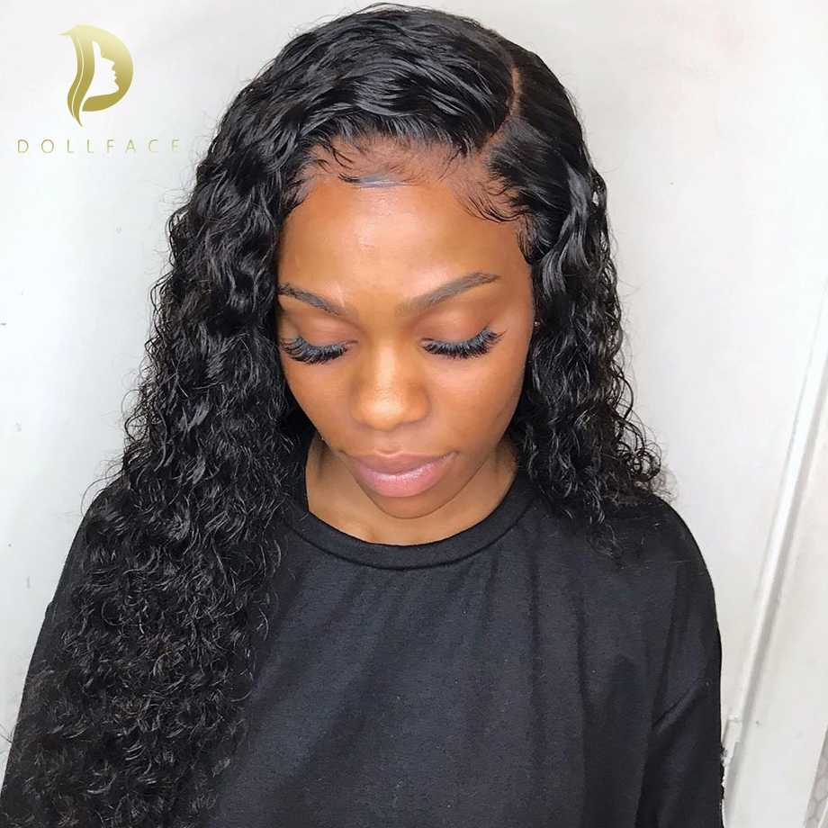 Lace Front Human Hair Wigs For Black Women Short Long Afro Curly Human Hair Wig Brazilian curly Frontal Wig Preplucked