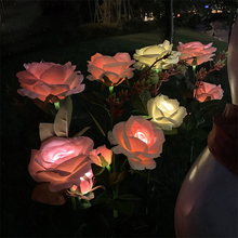 2PCS Solar Led Light Outdoor Garden Lights Waterproof Flower Street Lawn Solar Lamp Courtyard Garden Decoration For Home Patio