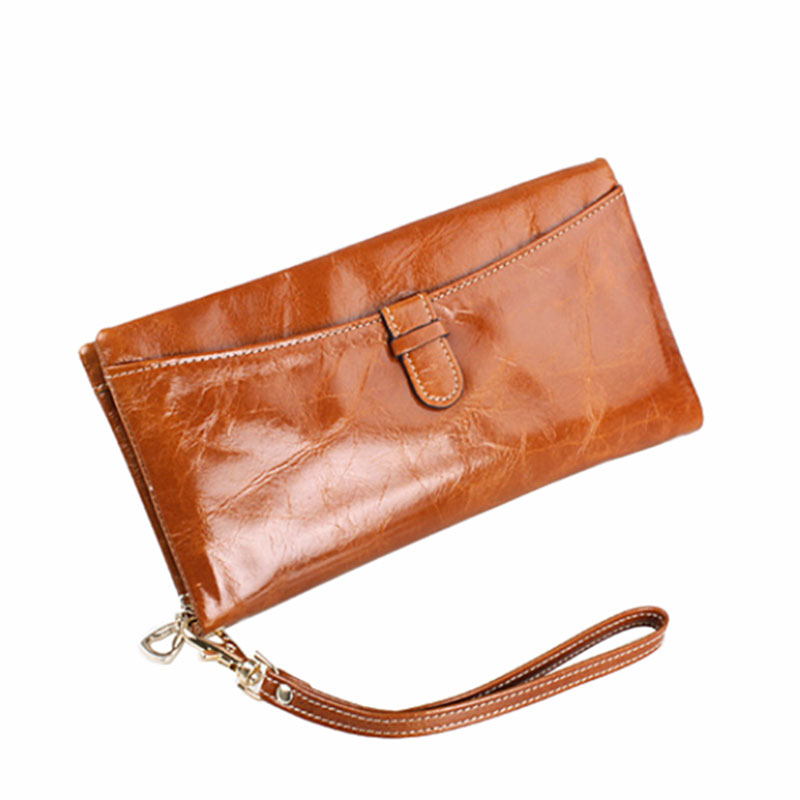 Fashion Genuine Leather Womens Wallet Female Leather Purses Women Long Wallets Ladies Purse Wallet Female Carteira Feminina