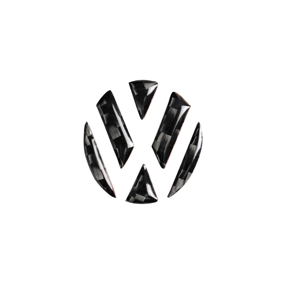 Car Emblem Sticker Carbon Fibre Trim Cover Universal For Volkswagen VW Caddy Sharan T5 Jetta Multivan Lavida Tayron Bora Arteon