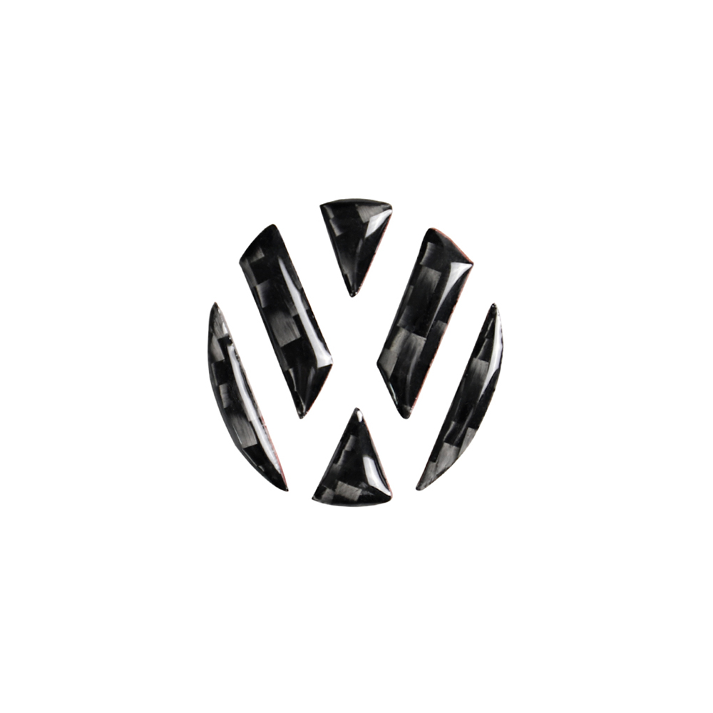 Car Emblem Sticker Carbon Fibre Trim Cover Universal for Volkswagen <font><b>VW</b></font> Caddy Sharan <font><b>T5</b></font> Jetta Multivan Lavida Tayron Bora Arteon image