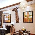 Имитация жирафа декоративные настенные Висячие дома крыльцо настенный Бар Ресторан клуб счастливый кулон голова оленя M3135