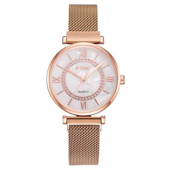 цена Luxury 2020 Rose Gold Bracelet Watch for Women Watches Sliver Ladies Female Stainless Steel Magnet Wristwatch Relogio Feminino онлайн в 2017 году
