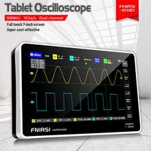 FNIRSI-1013D digital tablet osciloscópio duplo canal 100m largura de banda 1gs taxa de amostragem mini tablet digital osciloscópio
