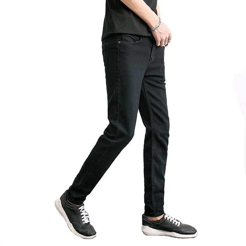 Classic Black Man Designer Slim Denim Pants Homme Style Masculin Jean men 39 s Casual Jeans High Quality Skinny Leisure Trousers in Jeans from Men 39 s Clothing