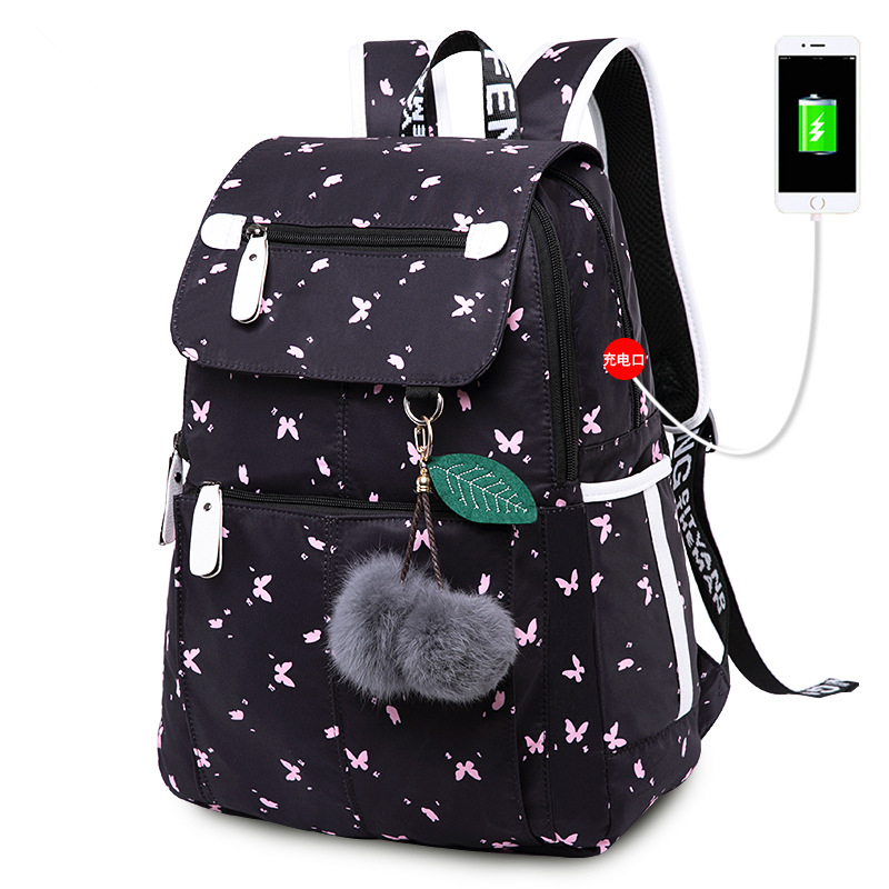 Kids Backpack Women Waterproof Usb Bagpack Printed School Bag For Girl School Backpack Backbag Schoolbag Mochila Sac A Dos Femme