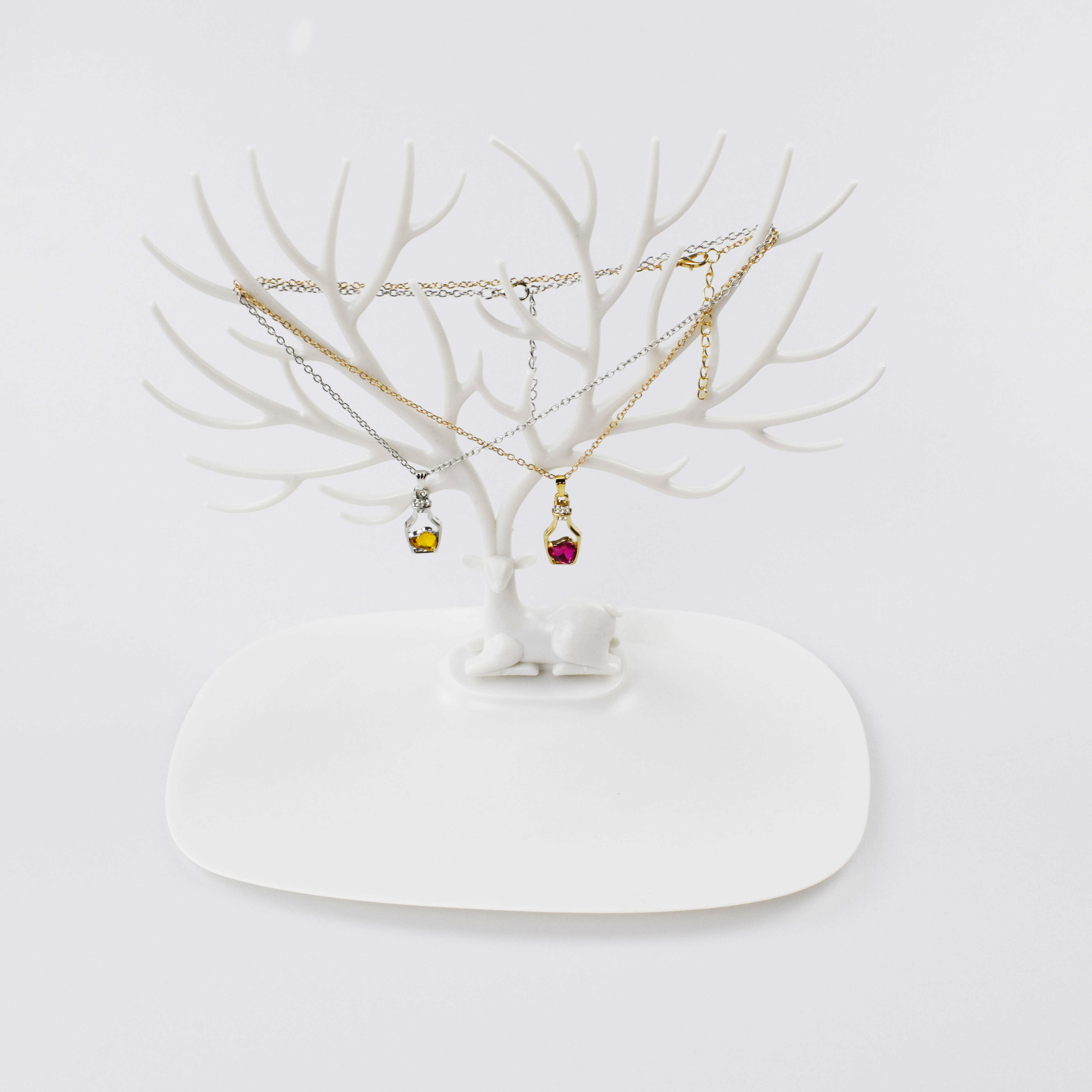 White Necklace Holder Bracelet Stand Jewelry Organizer Jewelry Tree Decorative Deer Antler Tree Design Jewelry Packaging Display Aliexpress