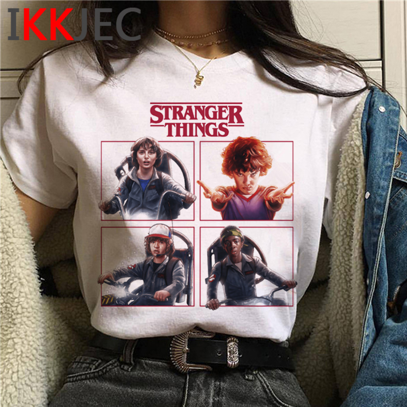 Stranger Things T Shirt Women Upside Down Eleven Tshirt Graphic Ullzang T-shirt Top Tee Shirts Funny Harajuku Clothing Female