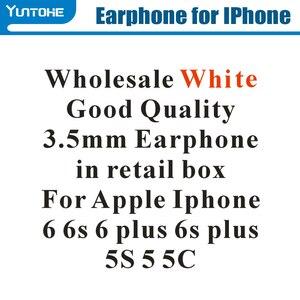 Image 2 - ร้อน! ที่ถูกที่สุดสีขาวหูฟังพร้อม REMOTE และ MIC สำหรับ Apple IPhone 6 6 S 6G PLUS 5 S55G ขายปลีกกล่องสำหรับของขวัญ 100 ชิ้น/ล็อต