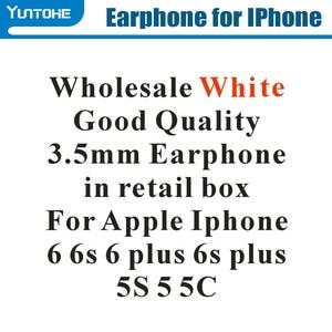 Image 2 - ホット! 格安ホワイトホンで & apple の iphone 用マイク 6 6s 6 グラムプラス 5 S55G で小売ボックスギフト用 100 ピース/ロット