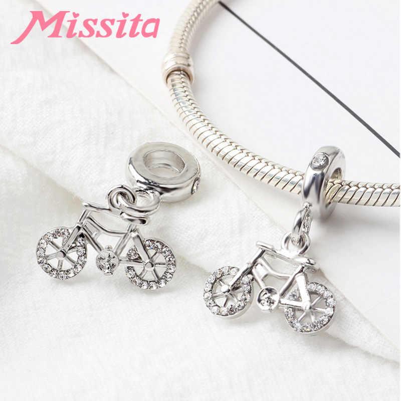 MISSITA رومانسية صغيرة دراجة قلادة جالبة للحظ صالح باندورا أساور القلائد لصنع المجوهرات السيدات مجوهرات اكسسوارات