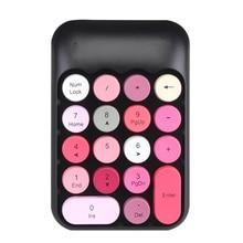 Mini 2.4G Wireless Number Keypad Financial Office Register Cordless Keypad Portable Mini Retro Silent Numeric Keyboard высокотехнологичный вибратор silent waterproof g wireless mini vibrating egg av