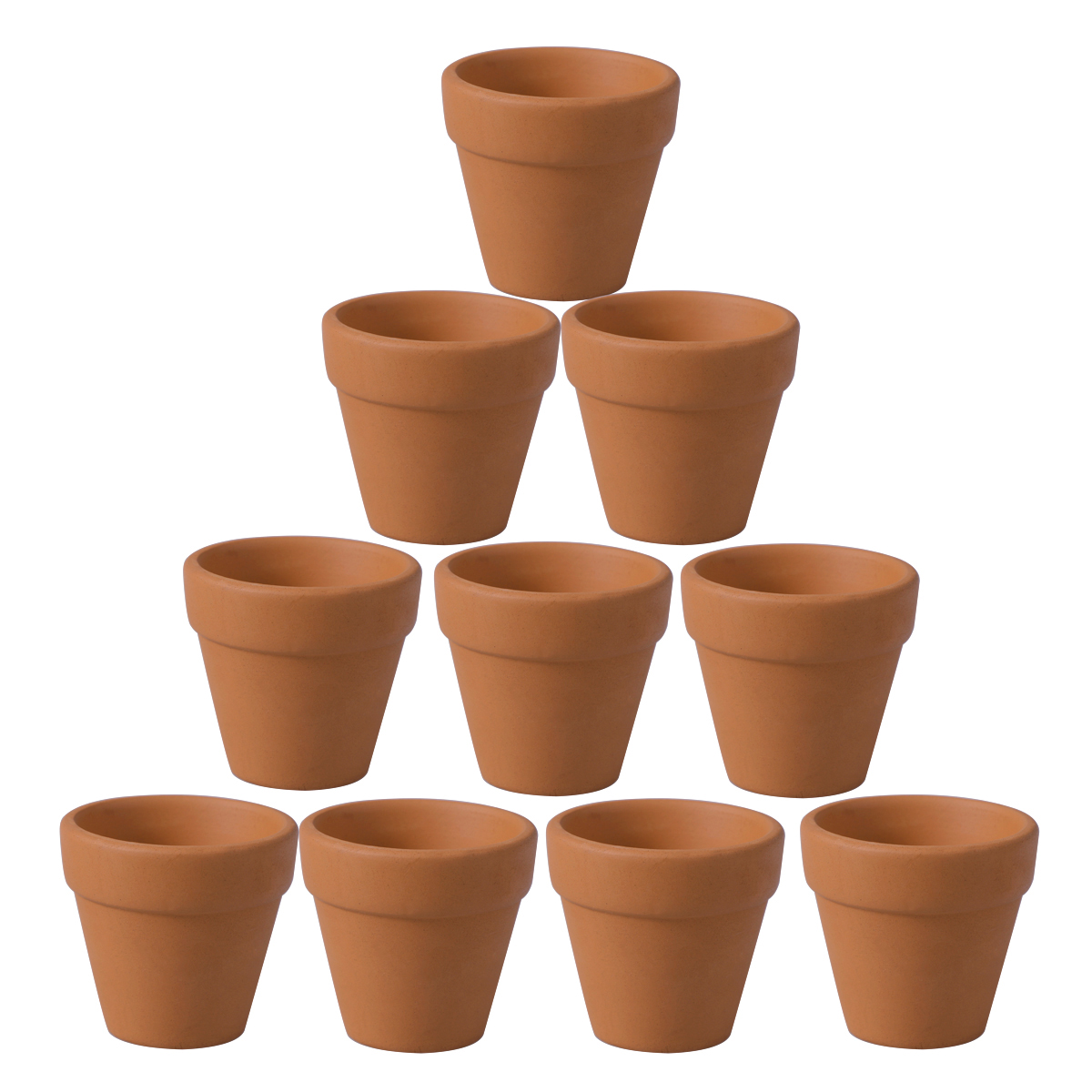 10Pcs 4.5x4cm Mini Terracotta Pot Clay Ceramic Pottery Planter Cactus Flower Pots Succulent Nursery Pots Great For Plants Crafts