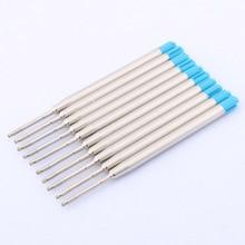 Refills 424 Ballpoint-Pen Office-Supplies Metal Blue Gel Standard 10pc Universal Stytle