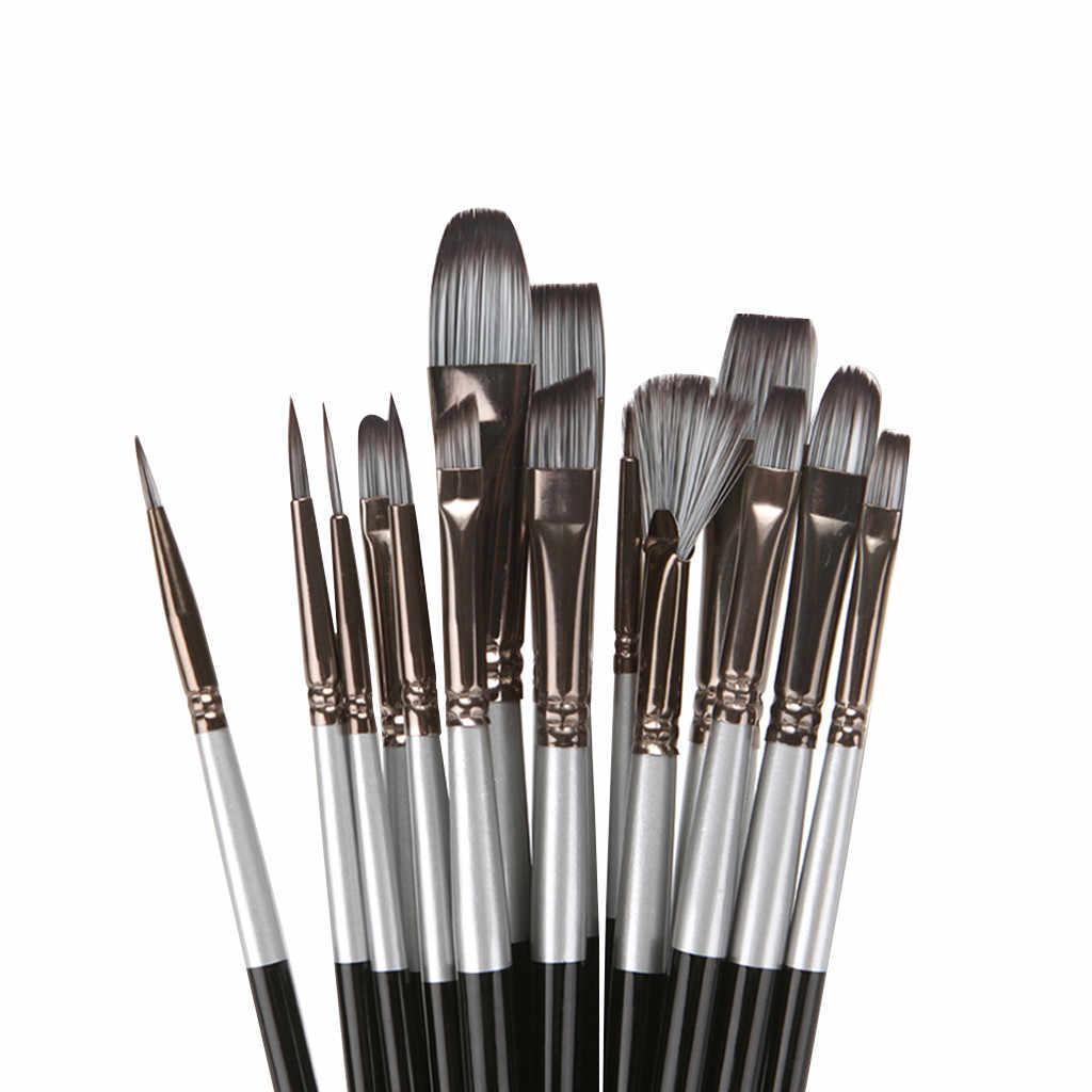 A estrenar y de alta calidad 15 unids/set pinceles de pintura de arte acrílico aceite acuarela artista lienzo bolsas Set Sil Dropship #82740