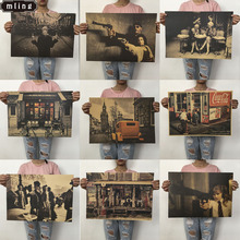 Mling 51,5x36 см 1 шт. крафт-бумага Пейзаж Плакат Коллекция гостиной спальня домашний Декор Ретро настенный стикер с пейзажем