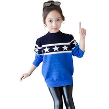 лучшая цена Sweater Girl 2019 Winter Long Sleeve Warm Pring Knitted Baby Girls Sweater Girls Pullover Top Teenage Clothes 5 7 9 11 13 Years