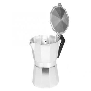 Aluminiowy ośmiokątny dzbanek do kawy czajnik do kawy zestaw do mokki do domu do kawy użyj ekspresu do kawy tanie i dobre opinie Ashata 5-10 filiżanek