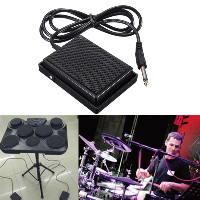Zebra Universal Electronic Piano Foot Sustain Pedal Controller Switch Compatible Damper Pedal Keyboards Acceaaories Musicais