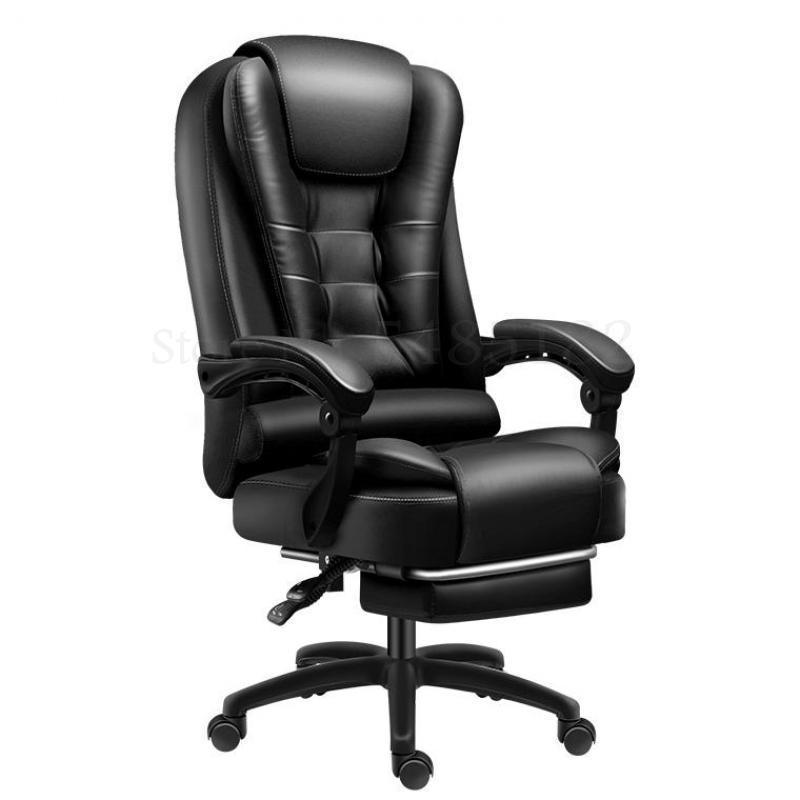 Computer Chair Home Office Chair Comfortable Seated Study Swivel Chair Gaming Chair Backrest Leather Reclining Boss Chair