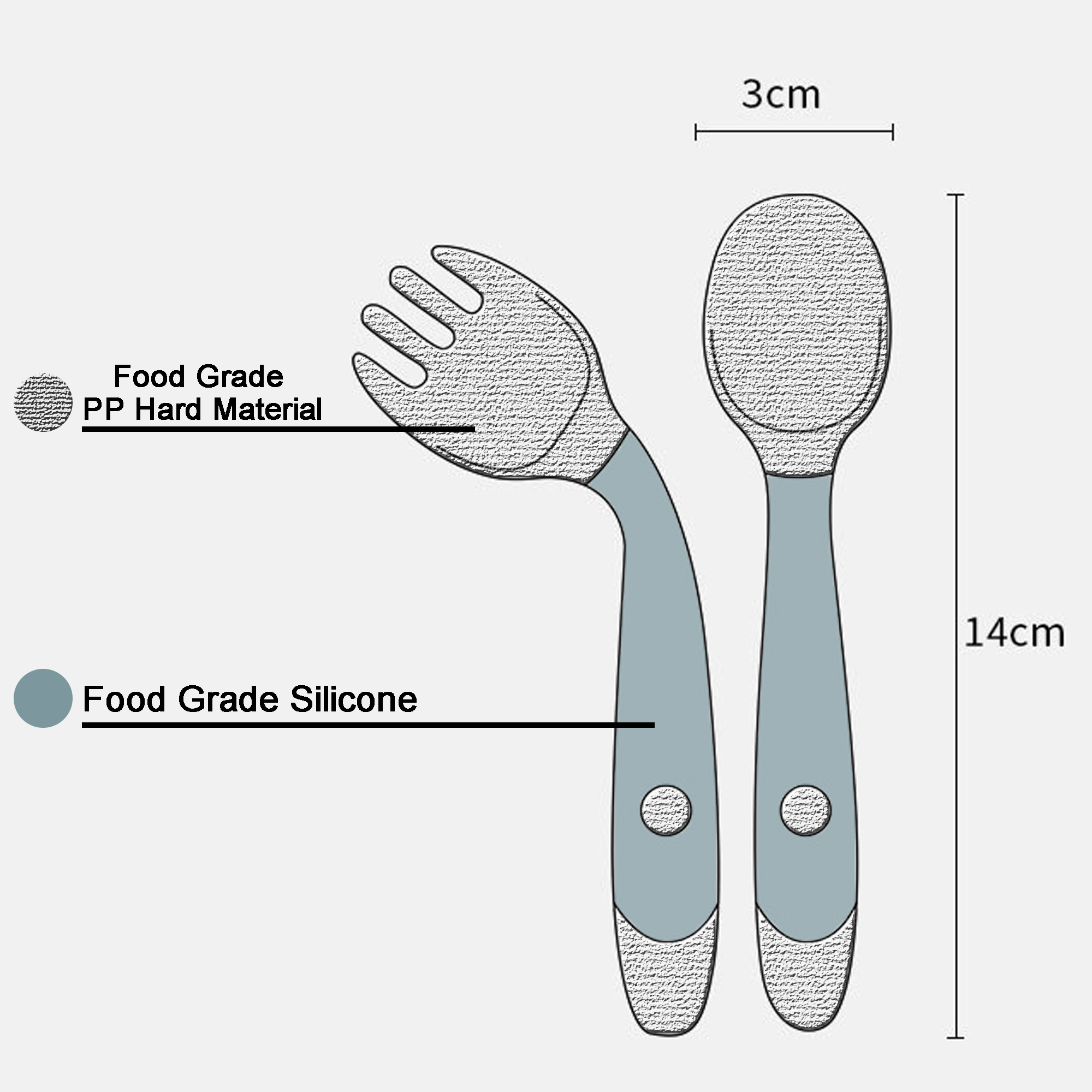Silicone Spoon for Baby Utensils Set Auxiliary Food Toddler Learn To Eat Training Bendable Soft Fork Infant Children Tableware 2