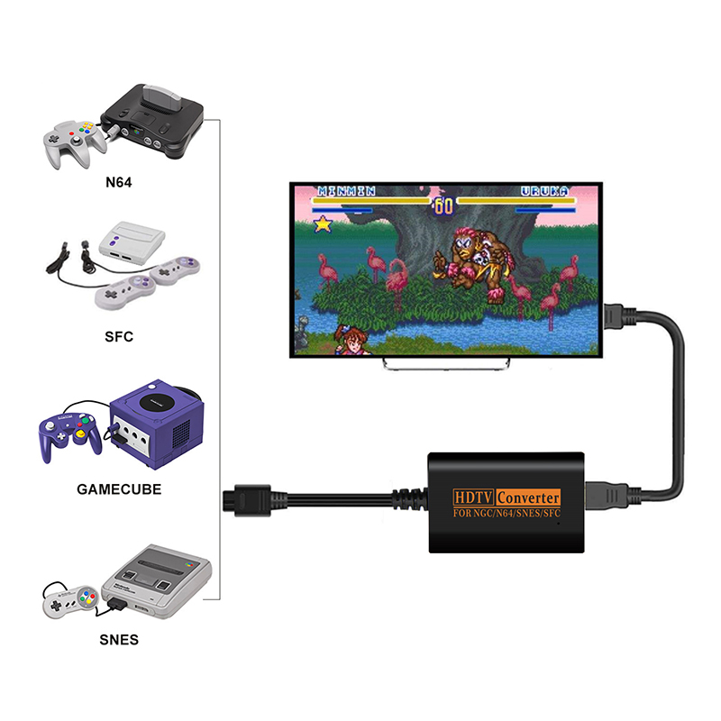2020 New HDMI Converter For NS 64 SNES NGC SFC Gamecube 1080P Retro Video Game Console High Definition Cable High Quality