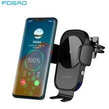 ワイヤレス車の充電器 15 ワットチー充電自動クランプセンサー空気ベント電話ホルダーiphone 11 xs xr × 8 サムスンS20 S10 S9