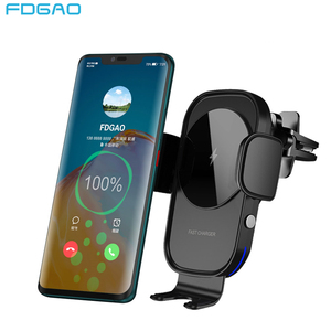 Image 1 - ワイヤレス車の充電器 15 ワットチー充電自動クランプセンサー空気ベント電話ホルダーiphone 11 xs xr × 8 サムスンS20 S10 S9