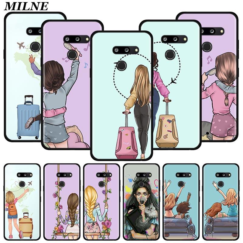 Best Friend Silicone Phone Case For LG K40 K40s K41s K50s K51s K61 G6 G7 G8 Q51 Q60 Q61 Q70 Shell Cover Couqe Fundas Capa Bumper