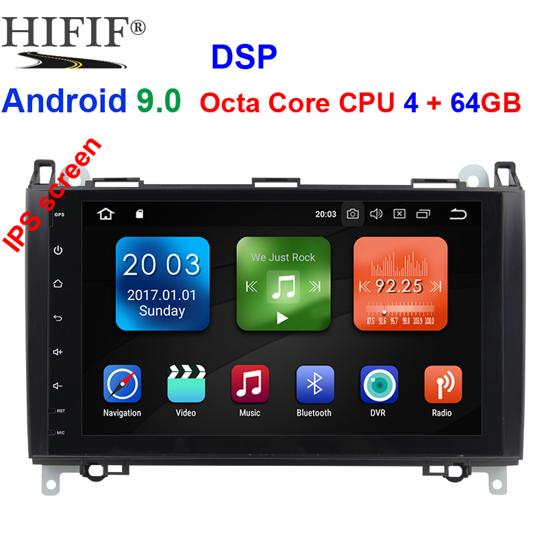 IPS Car Multimedia Player <font><b>GPS</b></font> Android 9.0 DSP 2 Din DVD Automotivo For <font><b>Mercedes</b></font>/Benz/Sprinter/Viano/Vito/B-class/B200/<font><b>B180</b></font> Radio image