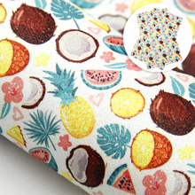 Faux-Leather Fabric-Sheet Glitter for DIY Earring Bows-Making Home-Textile/1yc10056 Fruit