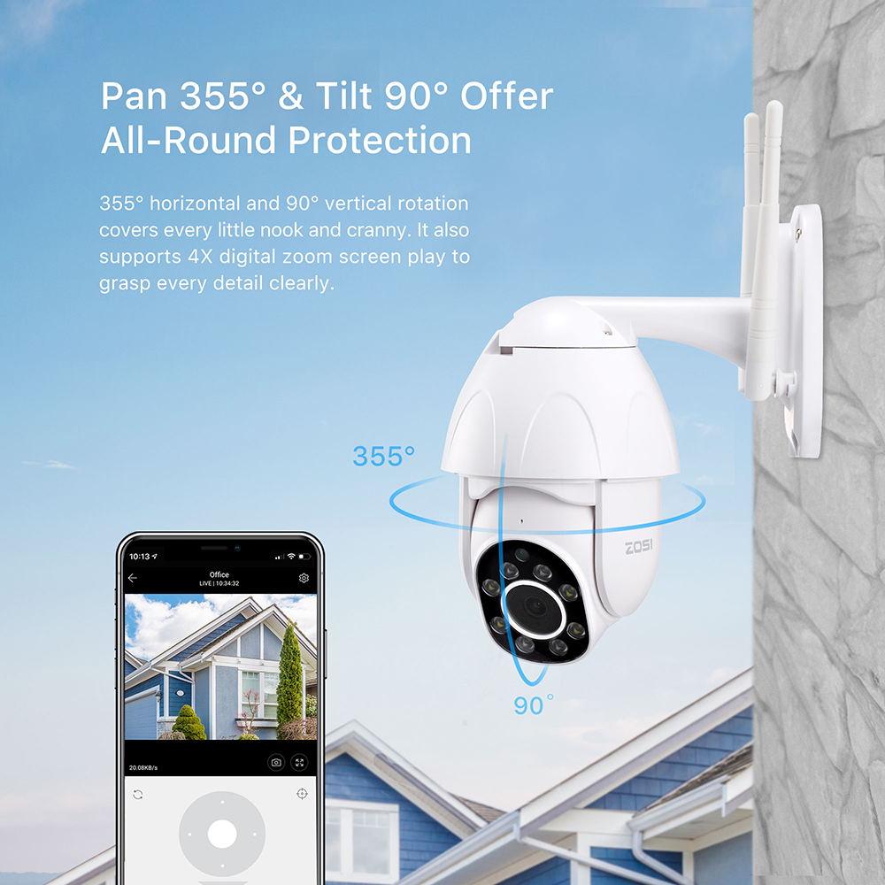 cheapest 1080P HD Surveillance Cameras Waterproof Outdoor Security Solar Battery include  Charge Camera WIFI Cameras Audio PIR Motion