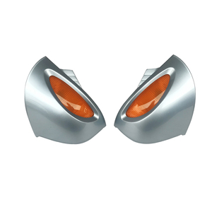 2x Rear View Mirror Amber Turn Signal Silver For BMW R1100RT R1100RTP R1150RT CAO(China)