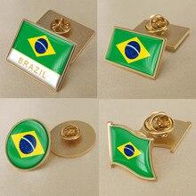 Brazil Single Flag Lapel Pins