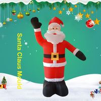 Inflatable Santa Claus Night Light Figure Outdoor Garden Toys Christmas Ornament Party Decorations New Year 2019 240cm 180cm