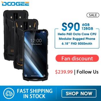 Модульный усиленный телефон DOOGEE S90, 6,18-дюймовый дисплей, 5050 мАч, Helio P60 восемь ядер, 6 ГБ+128 ГБ, Android 8.1, камера 16 Мп, IP68/IP69K