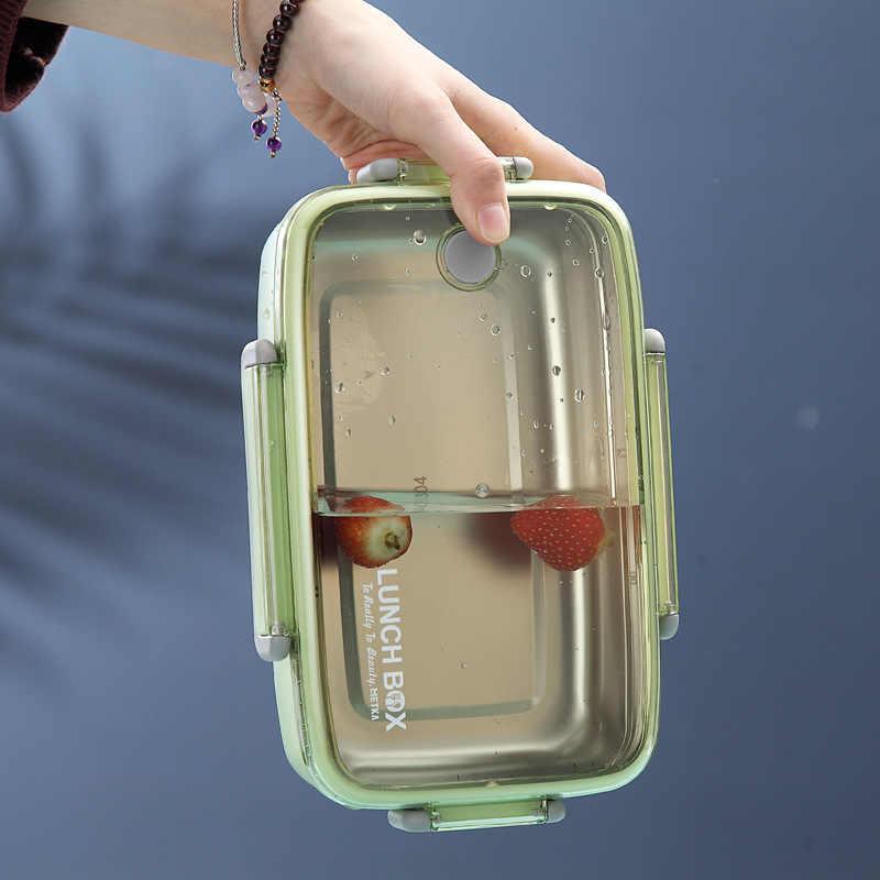 Di Động Khỏe Mạnh Chất Liệu Hộp Cơm Trưa Độc Lập Lưới Cho Bé Hộp Đựng BENTO Lò Vi Sóng Chén Ăn Đựng Thức Ăn Giữ Foodbox