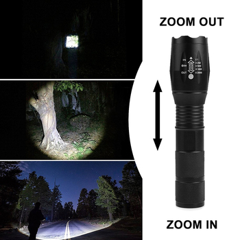 T20 Q250 Rechargeable Flashlight 8000LM 5 Mode Zoomable Waterproof TL360 Flashlights LED Flashlight 18650 Torch LED Light 3