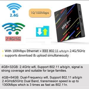 Image 3 - H96 MAX Plus Smart TV Box Android 9.0 TVBox 4GB Ram 32GB/64GB Rom Rockchip RK3328 4K H.265 USB3.0 2.4Ghz WiFi IP TV Set Top Box