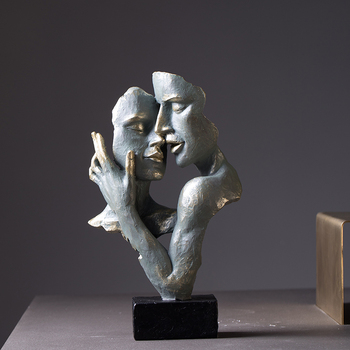 Modern Statues, Creative, Abstract Faces, Art Living Rooms, Antique Home Furnishings And Decorations In Northern Europe