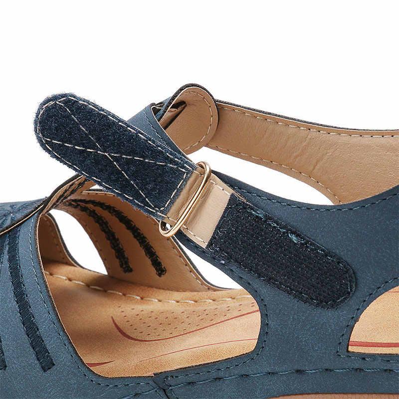 MCCKLE Frauen Sandalen 2020 Neue Sommer Schuhe Frau Weichen Boden Keile Schuhe Frauen Plattform Sandalen Heels Gladiator Alias Mujer